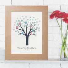 School or Group Fingerprint Tree - Personalised Teacher Keepsake Gift